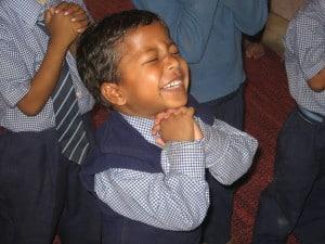 India Boy praying