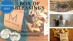 Box of Blessings: November 2015 – India