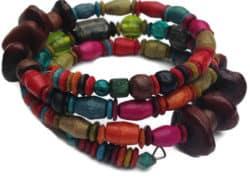 wood beads wrap bracelet