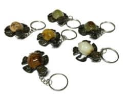 Marble Turtle Keychain