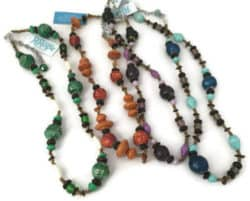 paper bead necklace Uganda