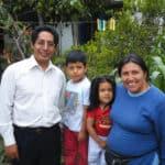 Fair trade Ecuador family